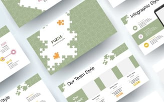Free Jigsaw Puzzle PowerPoint template