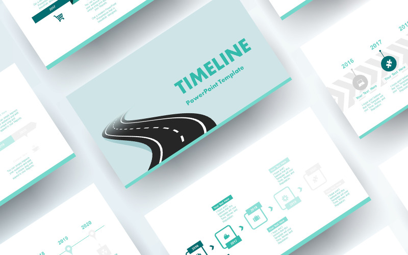 Free Timeline PowerPoint template PowerPoint Template