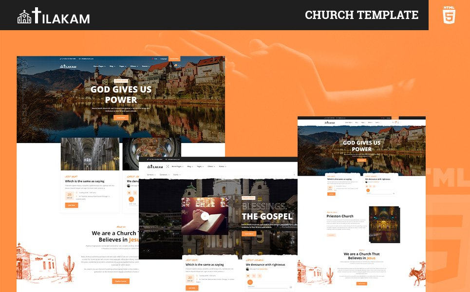 Reszponzív Tilakam   Church and Religious HTML5 Template Weboldal sablon 121936