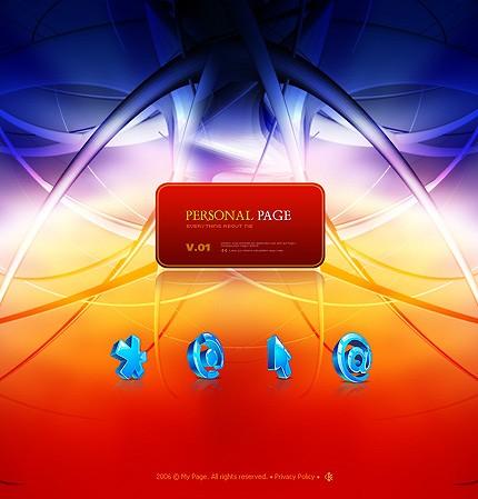 Шаблон сайта на Flash (12279)