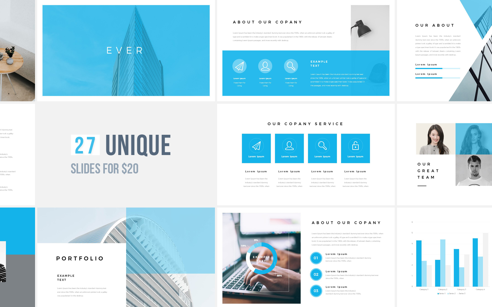 """Ever"" PowerPoint Template №122115"