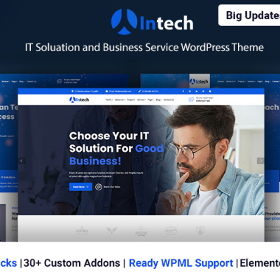Intech - IT Solution And Technology Services WordPress Theme WordPress Theme #122125