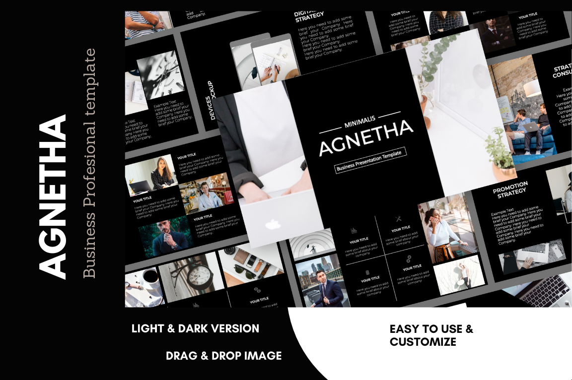 Agnetha Minimal Business Presentation PowerPoint Template