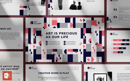Art Gallery Presentation PowerPoint Template