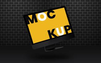 Dark Desktop Product Mockup