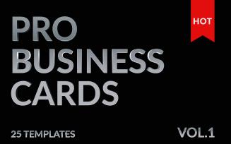 25 Mega Business Cards Bundle Corporate Identity Template