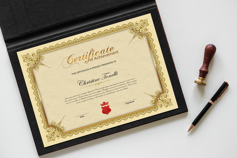 Tonelli  Of Achievement Certificate Template