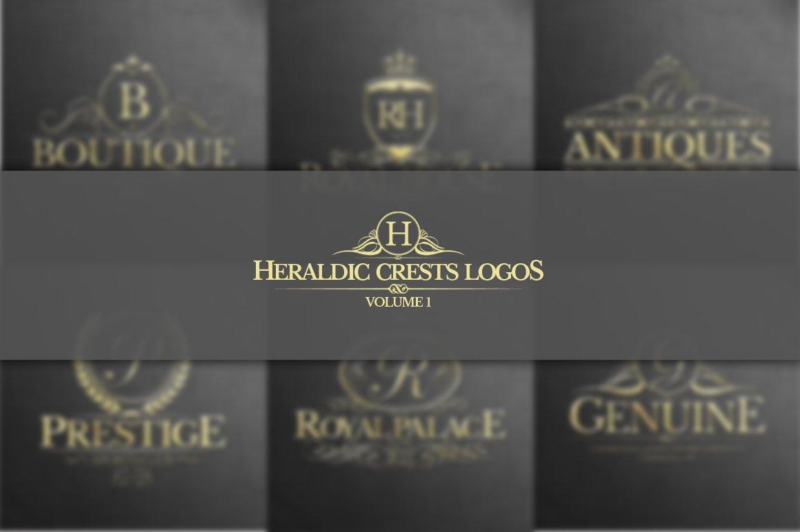 """Template di Loghi #122356 """"Heraldic Crest Vol.1"""""""