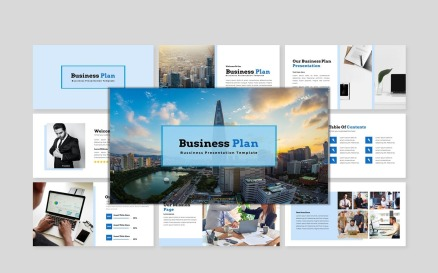 Business Plan - Creative Business Plan PowerPoint Template