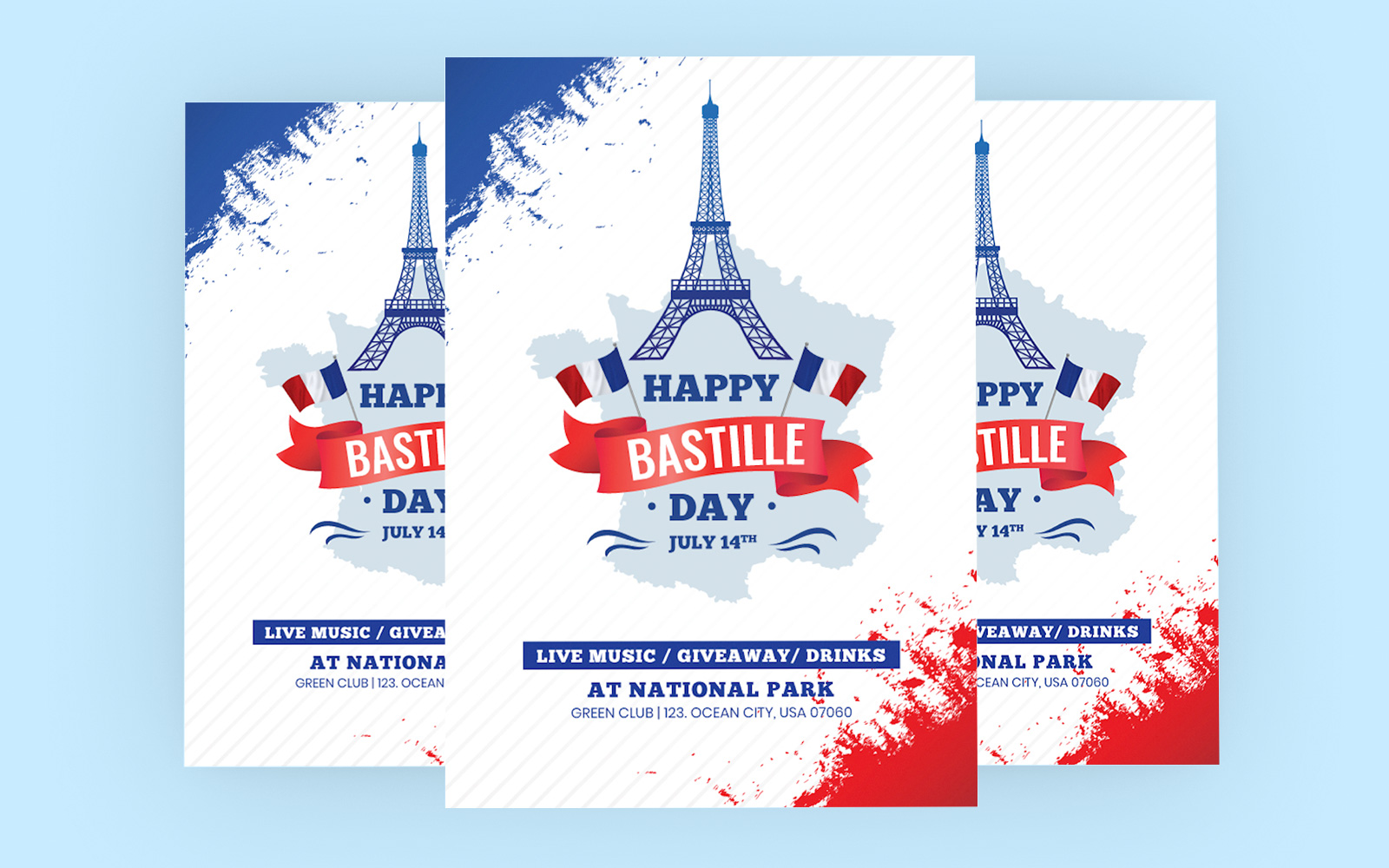 """""""Bastille Day"""" Bedrijfsidentiteit template №122481"""