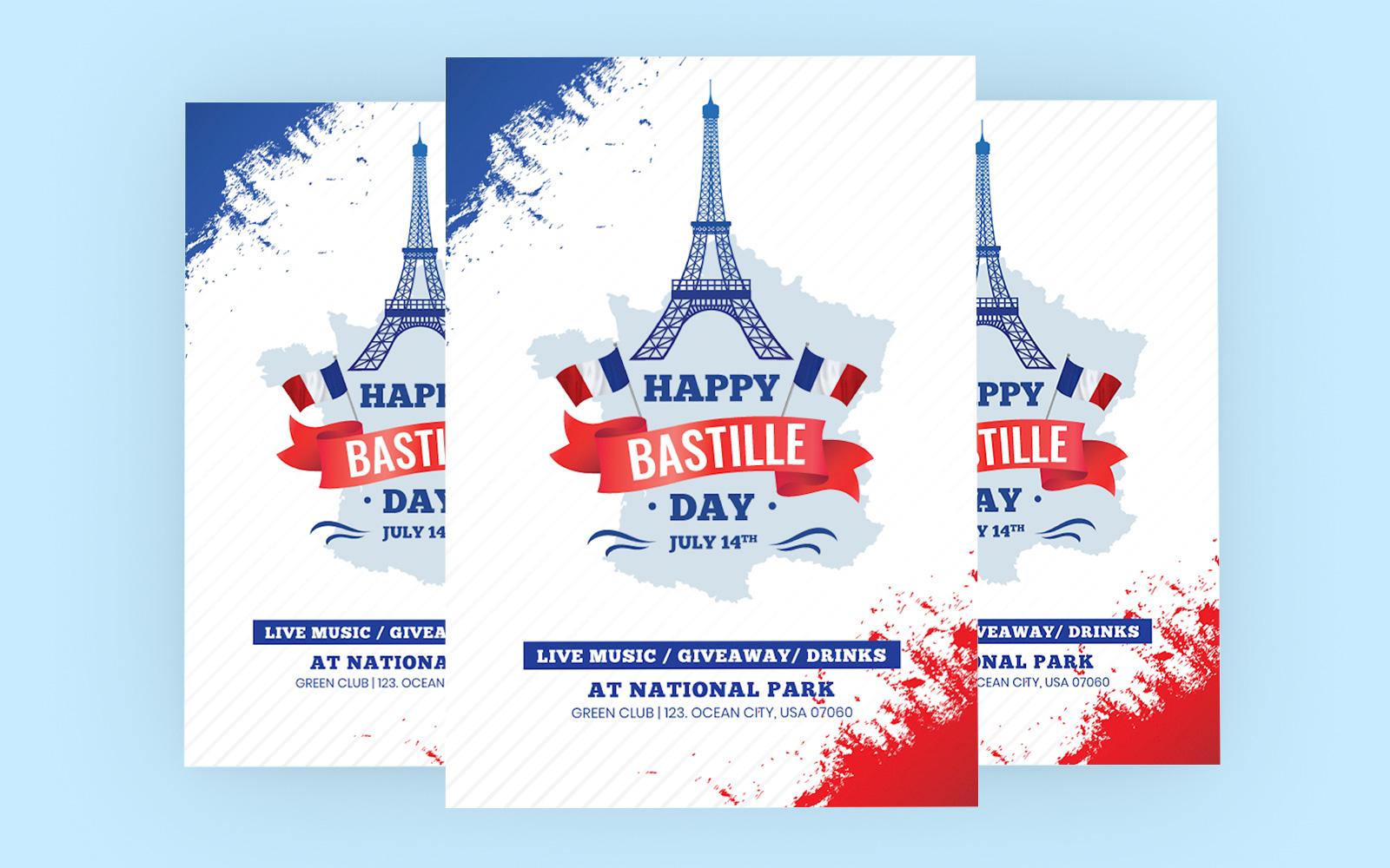 """Bastille Day"" 企业设计模板 #122481"