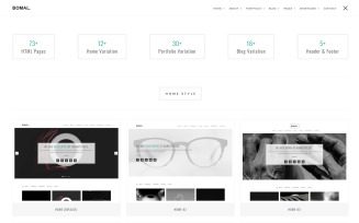Bomal Minimal Portfolio Website Template