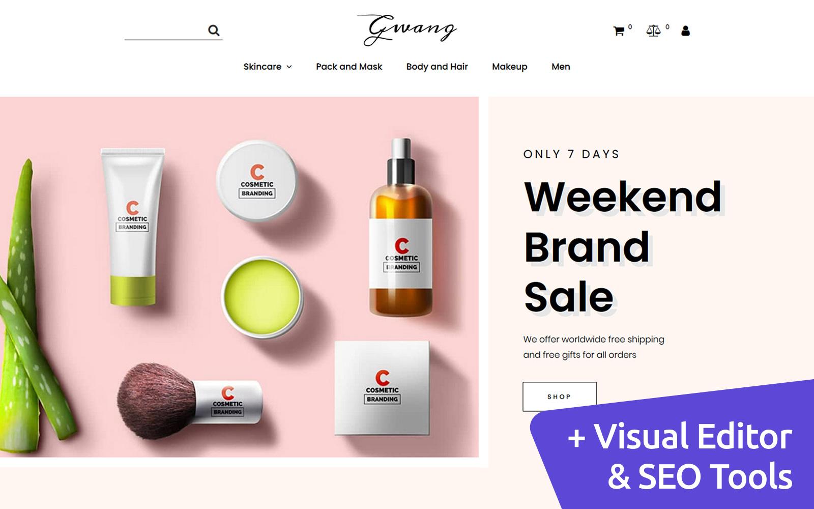 Gwang - Cosmetics Store Template Ecommerce MotoCMS №122469