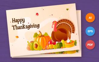 Happy Thanksgiving Card - Illustration