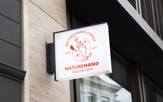 Nature Hand Logo Template