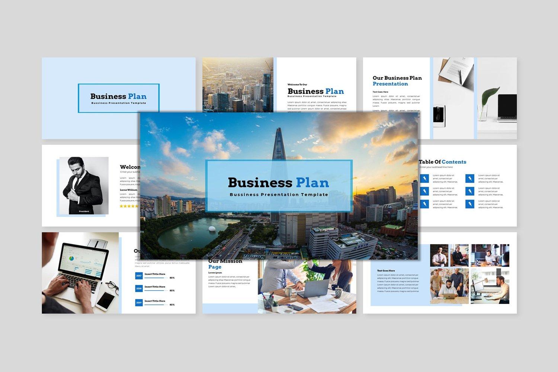 Premium Business Plan  - Creative Business Plan PowerPointmall #122450