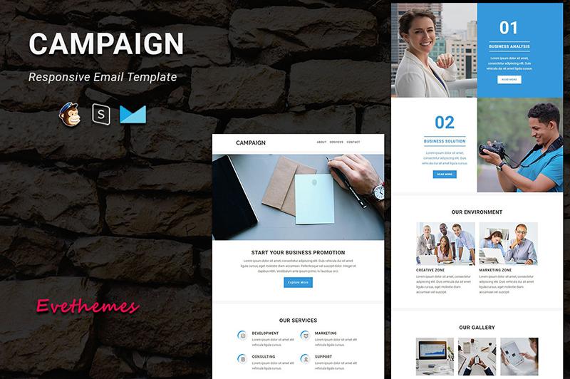 "Responzivní Newsletter šablona ""Campaign - Responsive Email"" #122457"