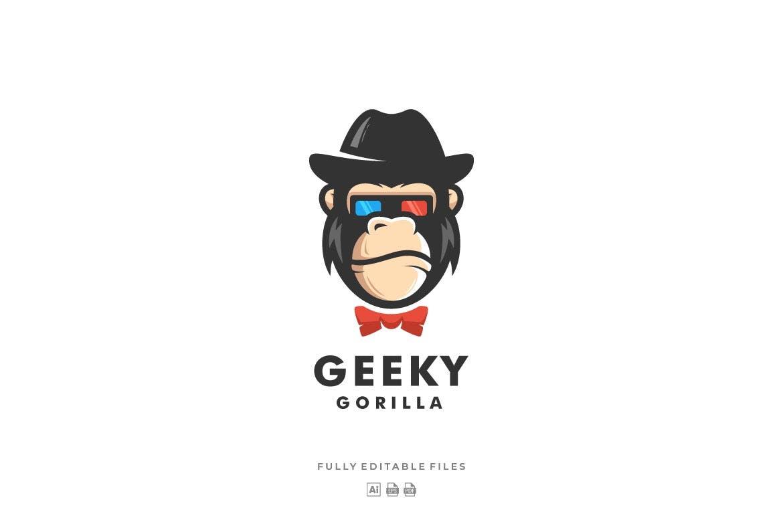 "Logo Vorlage namens ""Gorilla Color Mascot"" #122588"