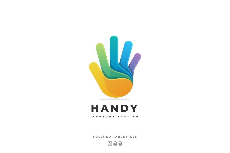 "Logo Vorlage namens ""Hand Color Gradient"" #122584"