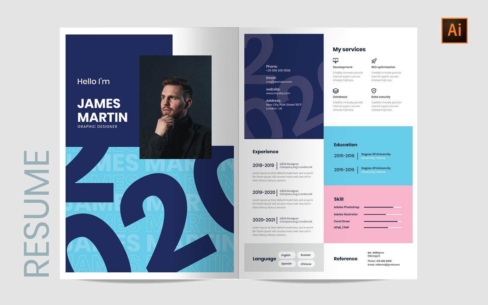Szablon resume Creative #122531