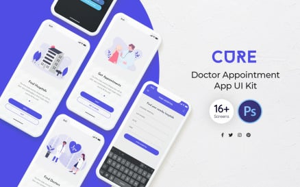 Cure: Doctor Appointment UI Element