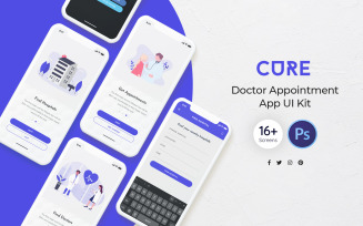 Cure: Doctor Appointment UI Elements