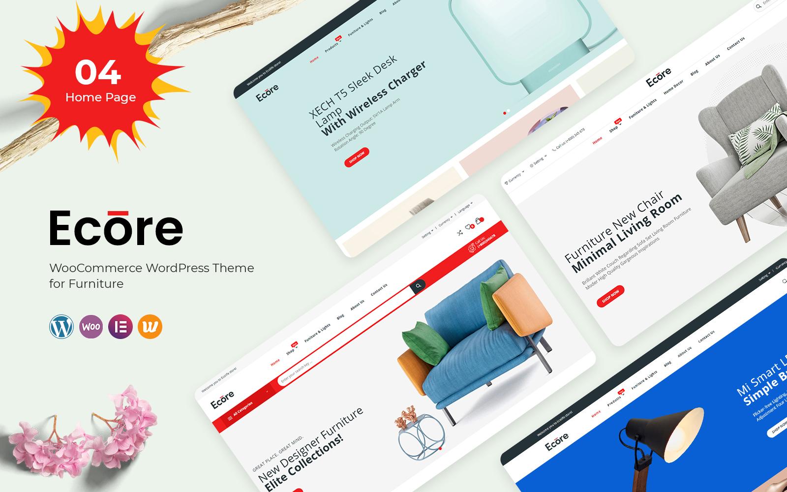 "Modello WooCommerce Responsive #122663 ""Ecore - Furniture"""