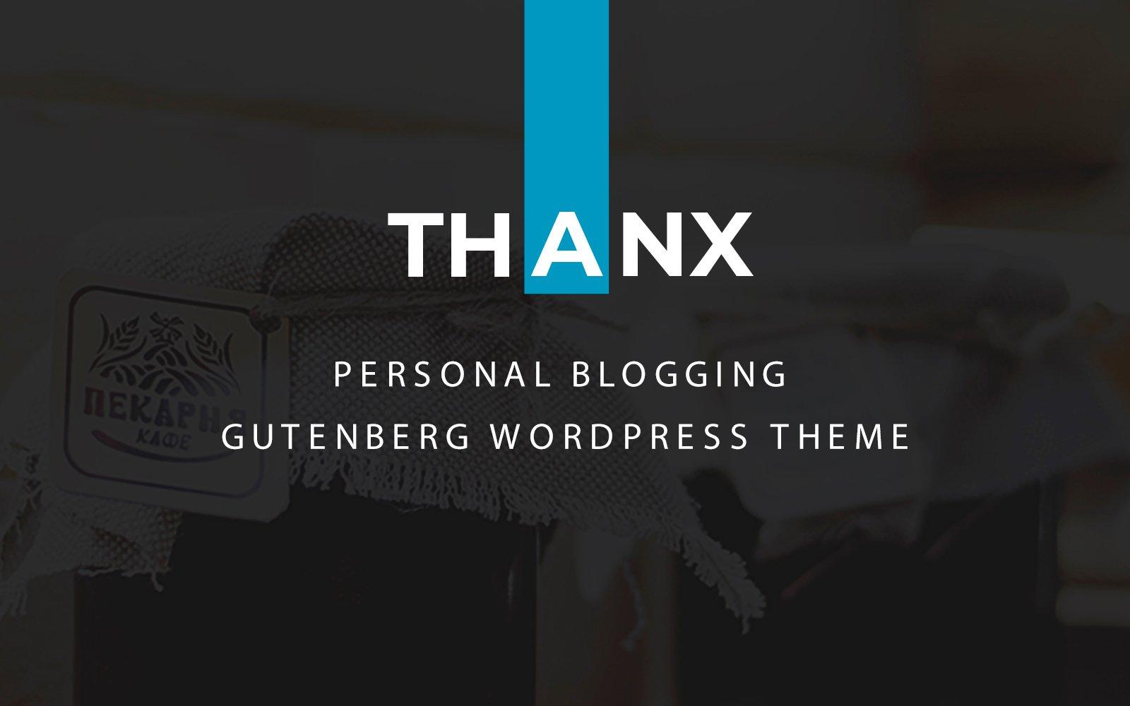 "Modello WordPress #122666 ""Thanx - Gutenberg"""