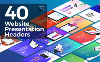 40 Website Presentation Headers PSD Template