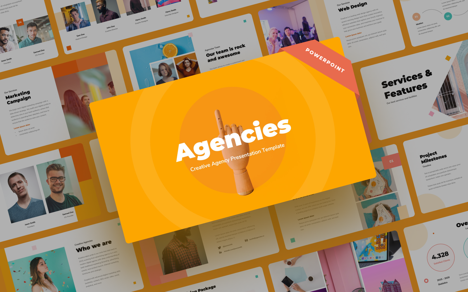 Agencies - Creative Agency Presentation PowerPoint Template
