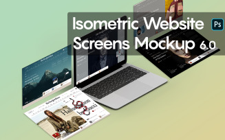 Isometric Website Screens 6.0