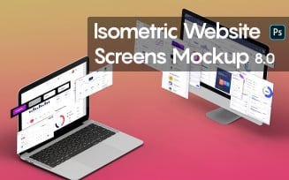 Isometric Website Screens 8.0
