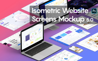 Isometric Website Screens 5.0