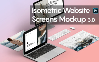 Isometric Website Screens 3.0