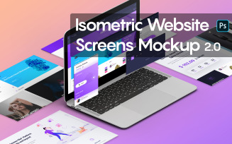 Isometric Website Screens 2.0