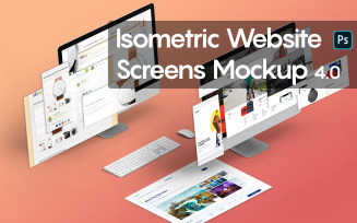 Isometric Website Screens 4.0