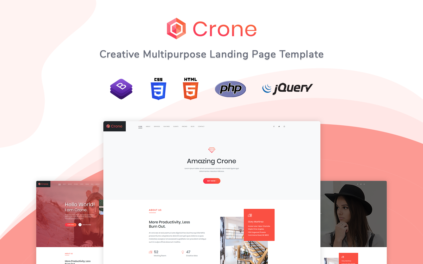 Crone - Responsive Landing Page Template