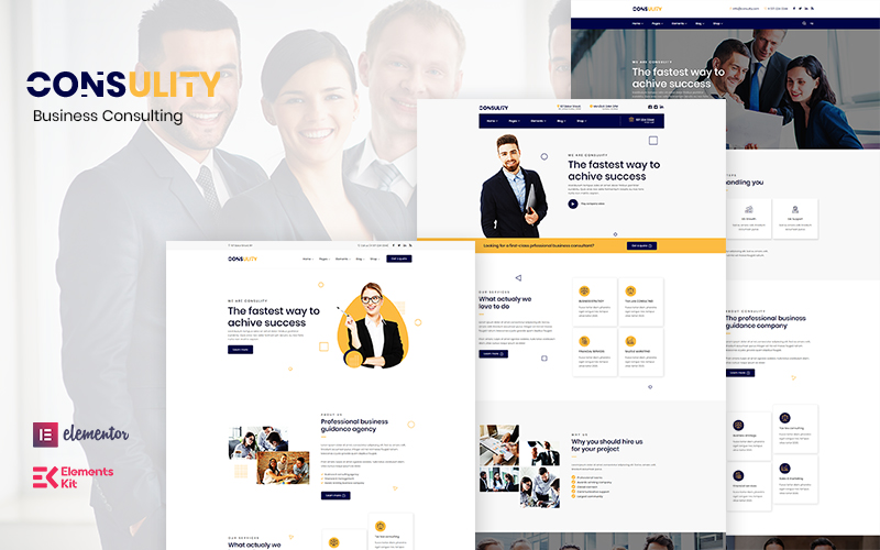 """Consulity - Business Consulting"" - адаптивний WordPress шаблон №122894"