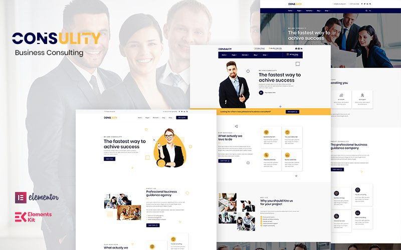 """Consulity - Business Consulting"" Responsive WordPress thema №122894"