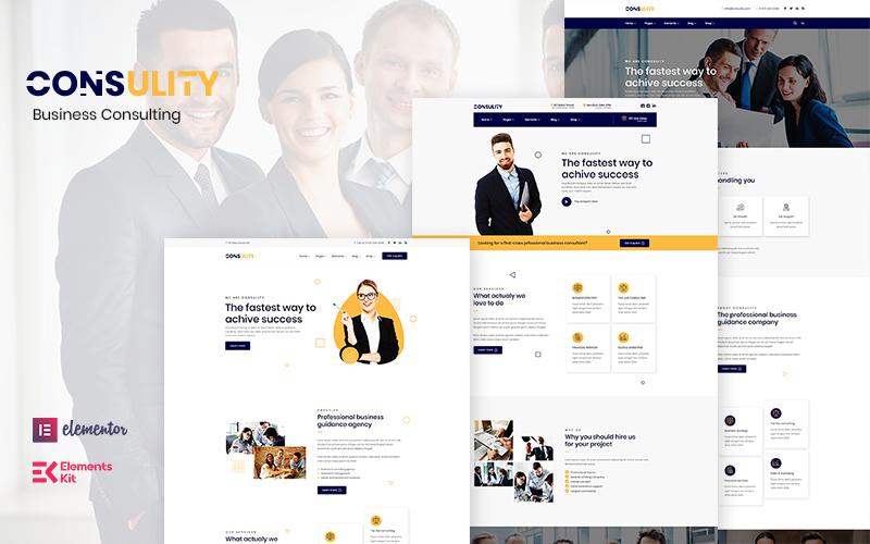 """Consulity - Business Consulting"" thème WordPress adaptatif #122894"