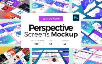 Perspective Screens Product Mockup