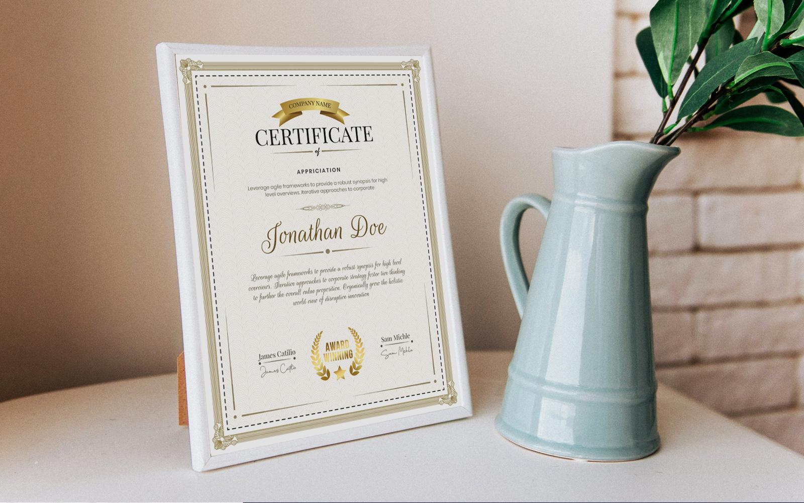 """Plantilla De Certificado """"Professional"""" #122864"""