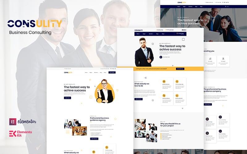 "Responzivní WordPress motiv ""Consulity - Business Consulting"" #122894"