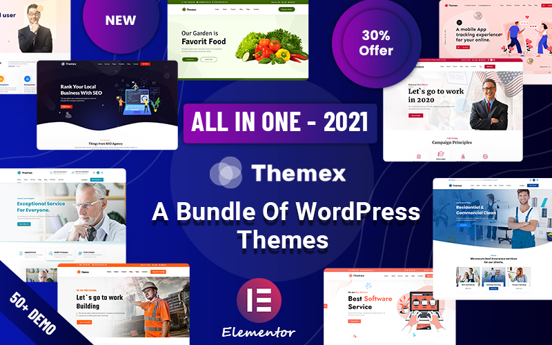 "Responzivní WordPress motiv ""Themex - Multipurpose Responsive"" #122890"