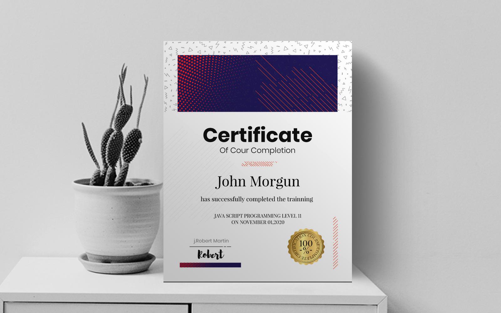 Szablon certyfikatu Professional #122866