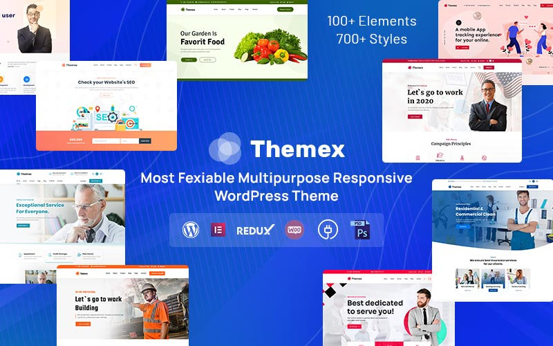 """Themex - Multipurpose Responsive"" - адаптивний WordPress шаблон №122890"