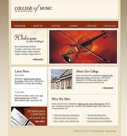 Realizare site colegiu de muzica