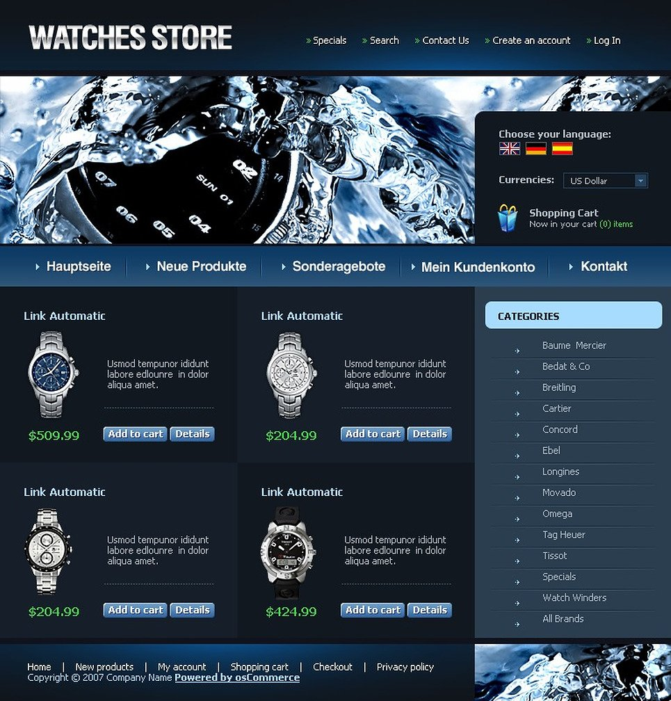 Accessories Oscommerce Themes