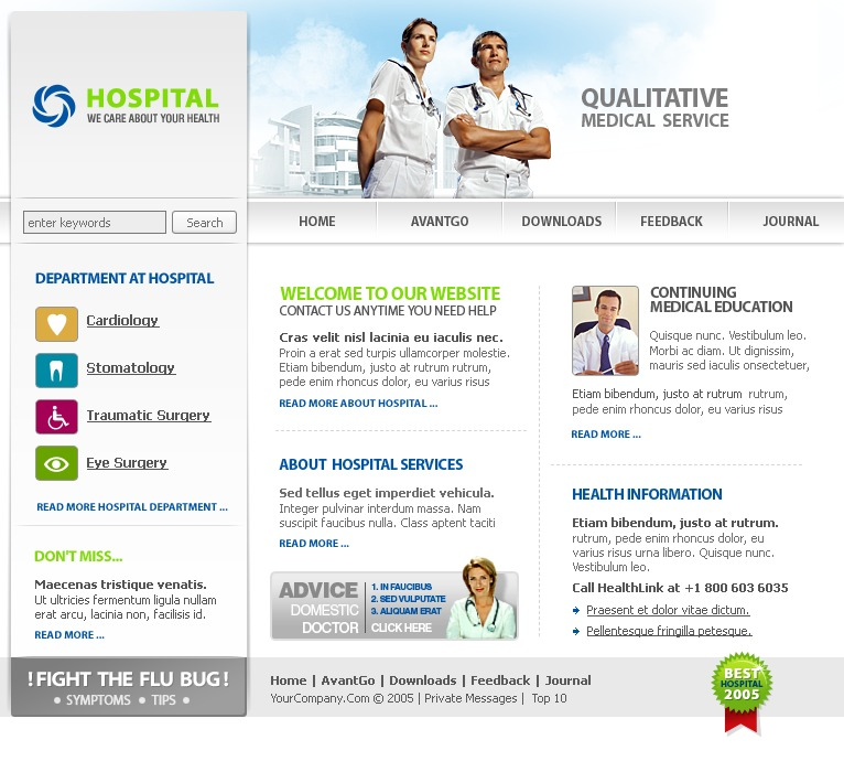 Plantilla PHP-Nuke #12333 para Sitio de Medicina
