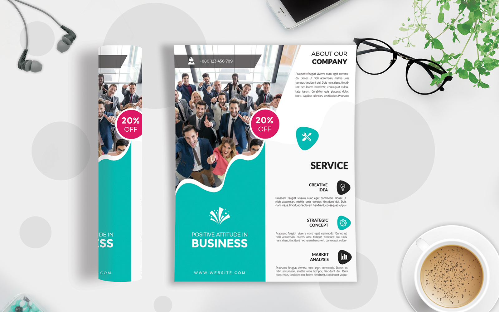 Business Flyer Vol-224 Template de Identidade Corporativa №123048